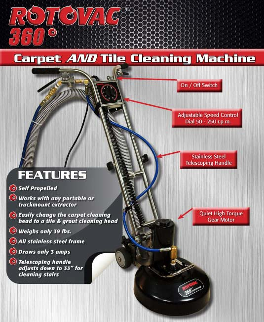 Introducing The Newest Rotovac 360 Carpet Amp Floor