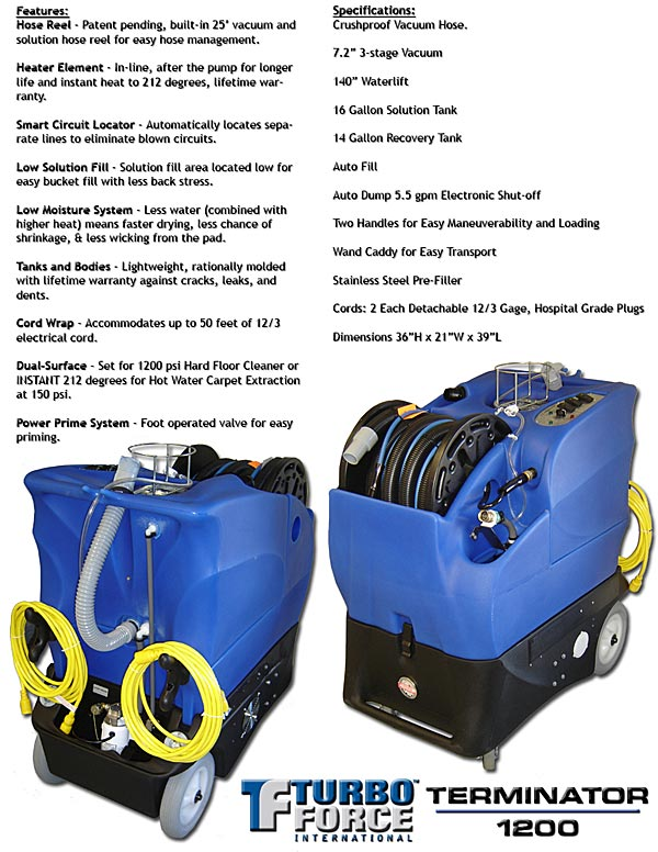 The Portable Extractor with Truckmount Power and Versatility without the Truck-Mount price. Edited by Carpetologist