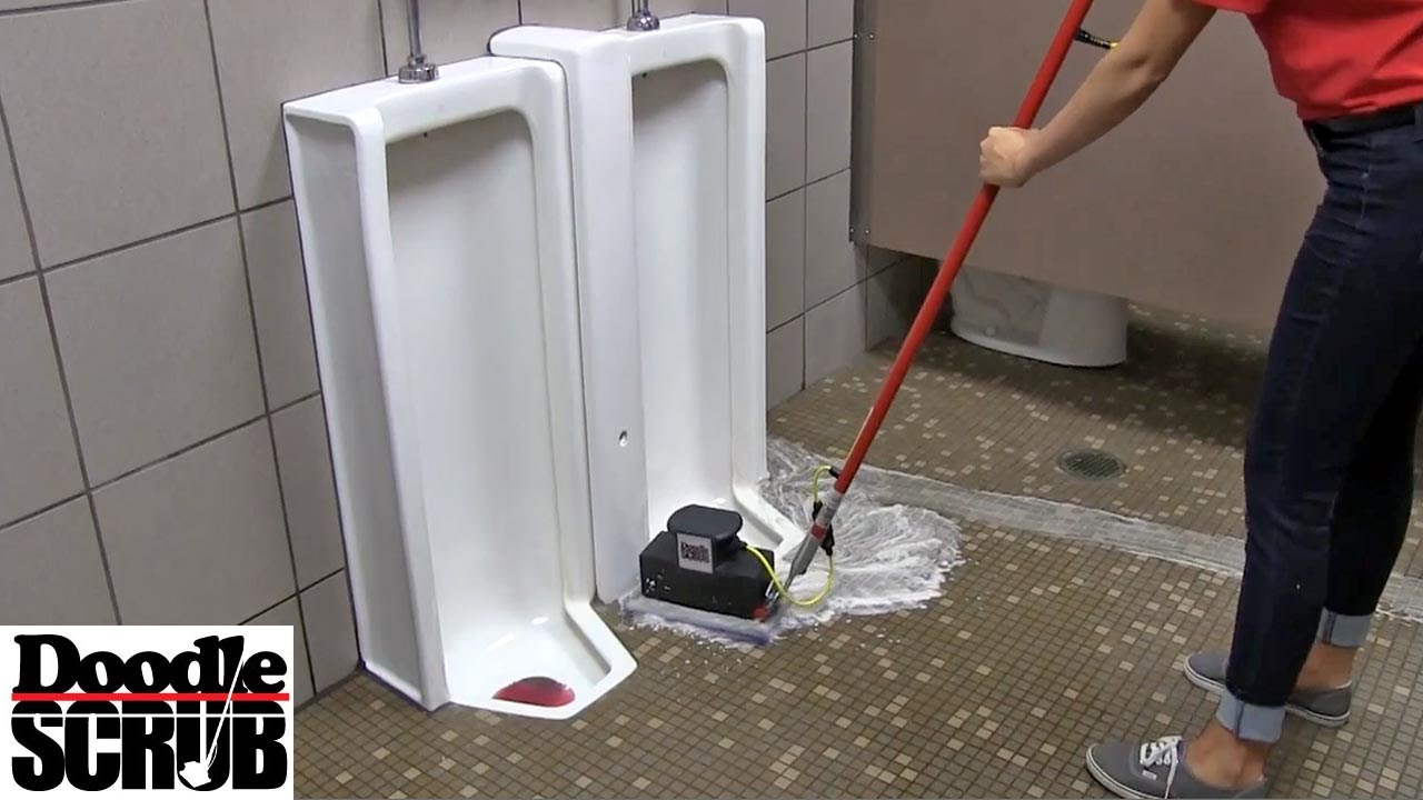 commercial janitorial cleaning washroom floors