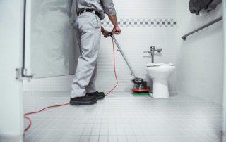 Oreck Orbiter Cleaning Bathroom Stall Floor Tiles