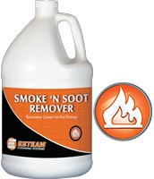 esteam smoke and soot remover restorative cleaner for fire damage