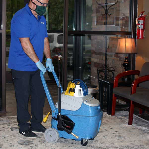 machine for disinfecting large areas