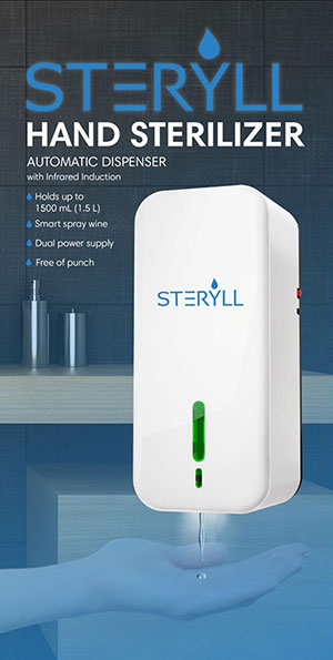 hand sanitizer sterilizer automatic dispenser infrared induction steryll