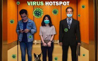 elevator covid virus disinfect