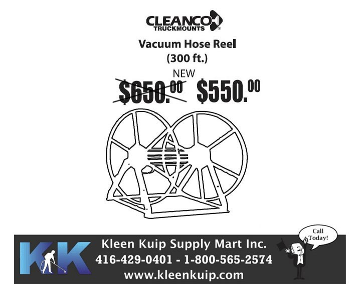 cleanco truckmount hose reel titanium wand for sale special pricing