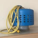 vacuum booster for carpet cleaning machine recovery tank